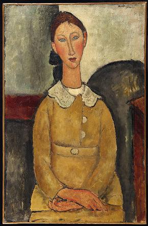 Amedeo Modigliani Fanciulla in abito giallo (Ritratto di giovane donna con collettino) © Diritti Riservati
