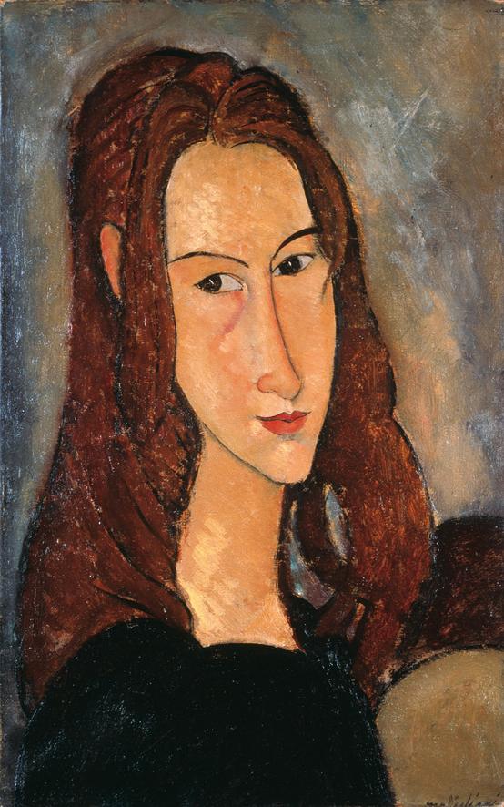 Amedeo Modigliani  Ritratto di ragazza dai capelli rossi (Jeanne Hébuterne) 1918 Olio su tela, cm 46 x 29 © Diritti Riservati