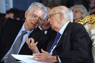 Mario Monti e Napolitano