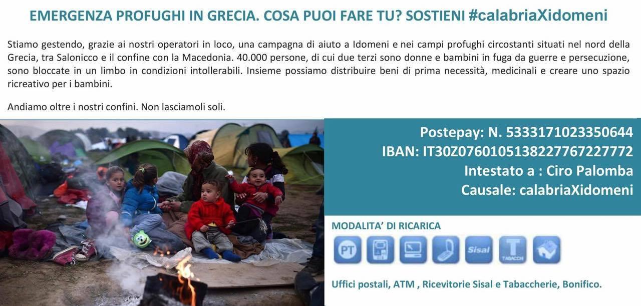 Diario di Idomeni, solidarietà targata Calabria